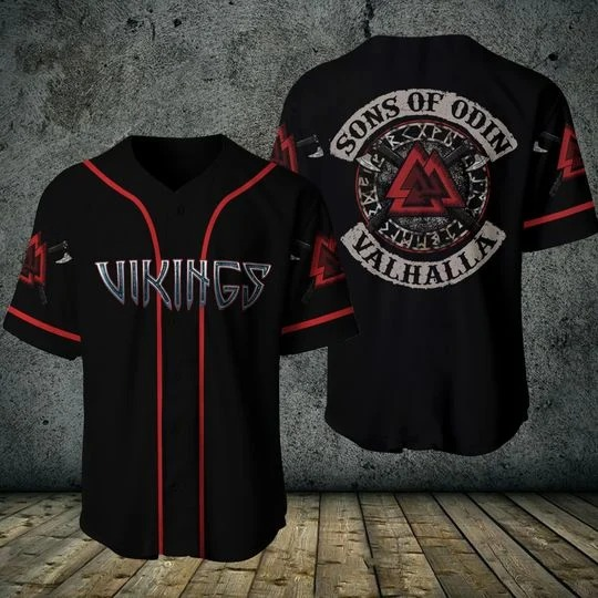 Viking sons of odin valhalla baseball shirt