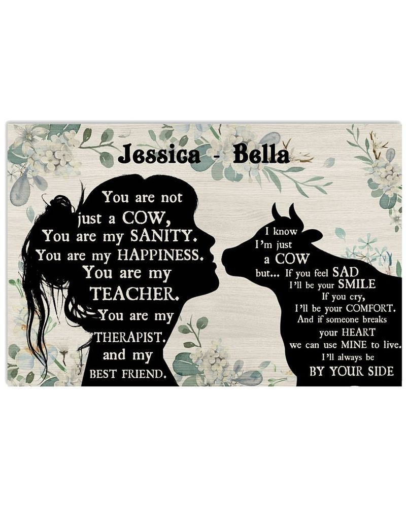 You are not just a Cow custom name poster