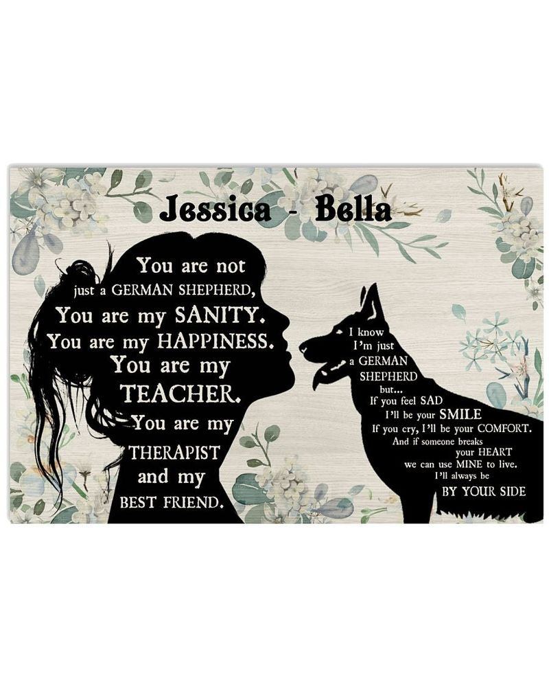 You are not just a German Shepherd custom name poster
