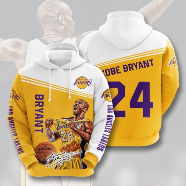 Bryant Los Angeles Lakers 3D Hoodie