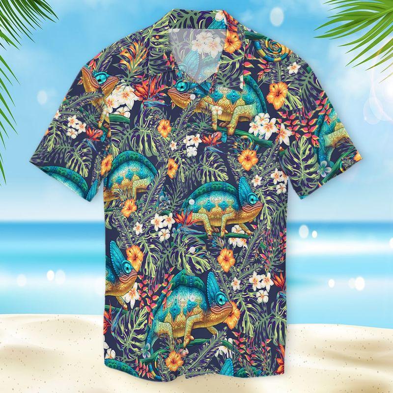 Chameleon Hawaiian Shirt