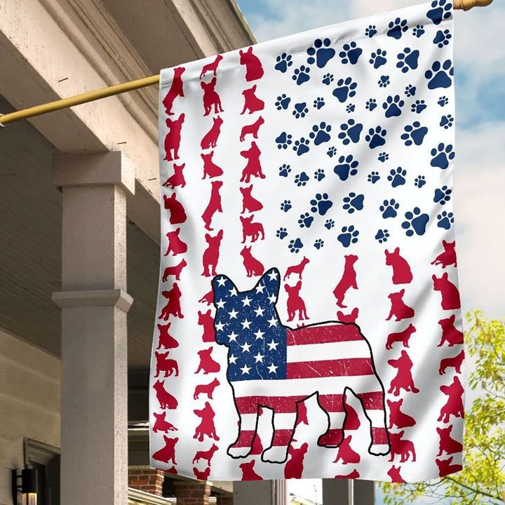 Frenchie Lovers House Flag and Garden Flag1