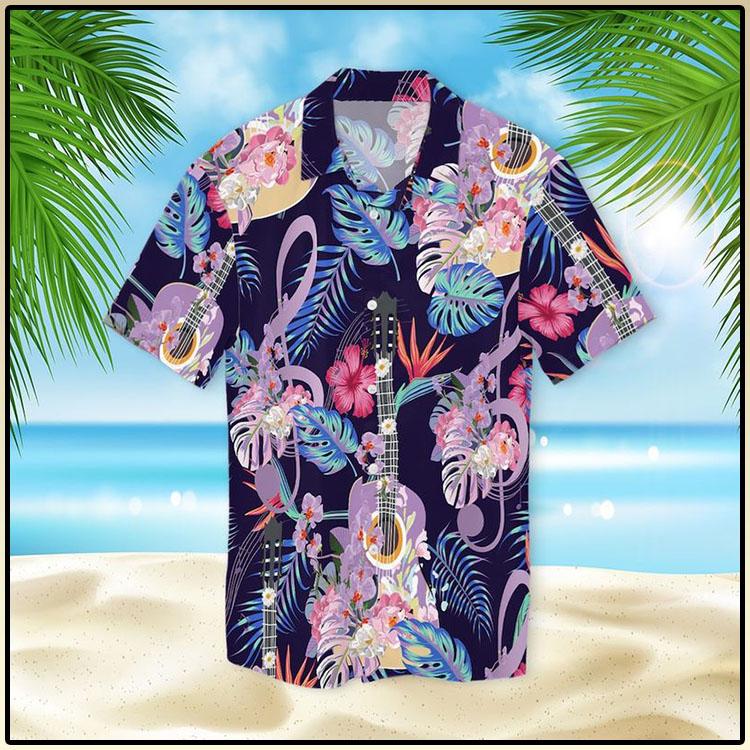 Guitar With Treble Clef Hawaiian Shirt5