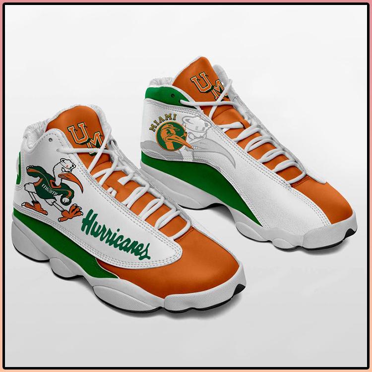 Miami Hurricanes Air Jordan 13 sneaker Football sneaker1