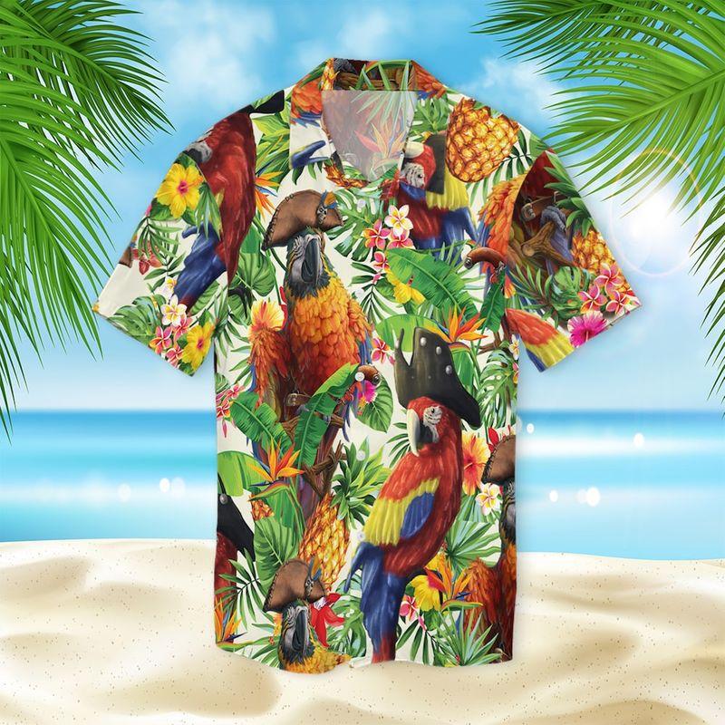 Pirate Parrot Hawaiian Shirt