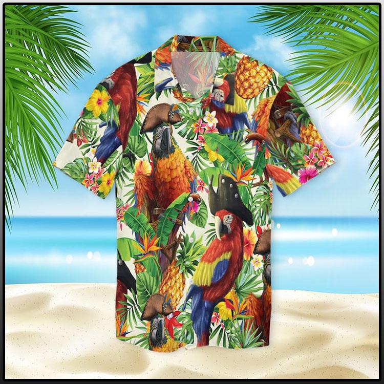 Pirate Parrot Hawaiian Shirt1
