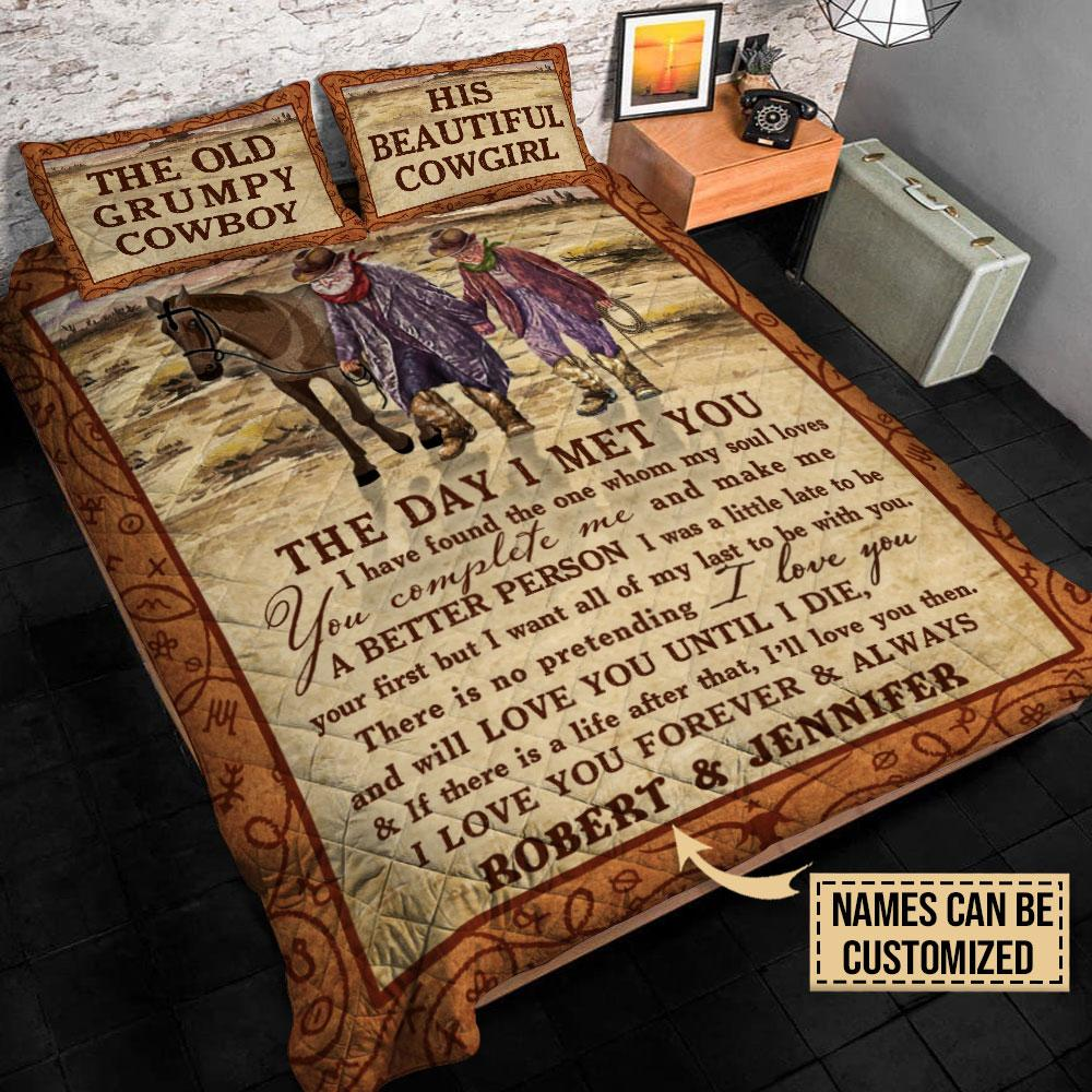 The Old Grumpy Cowboy The Day I Met You Custom Personalized Bedding2