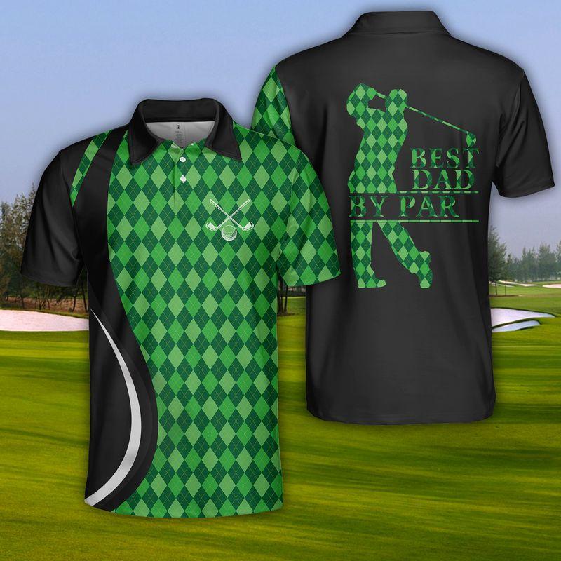 USA Golf Best Dad By Par Polo Shirt