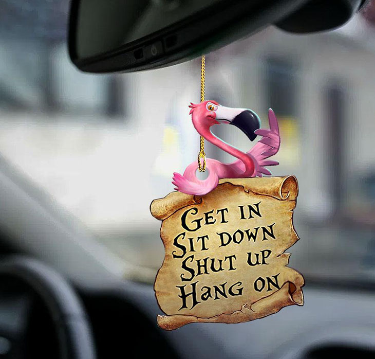 Flamingo Get In Sit Down Shut Up Hang On Ornament