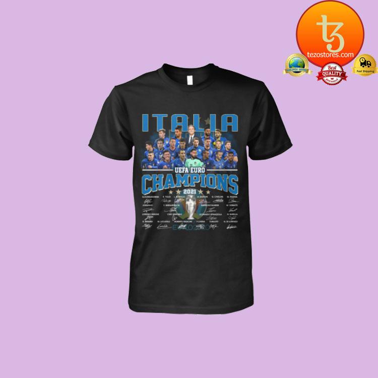Italia UEFA Euro Champions signatures shirt hoodie1