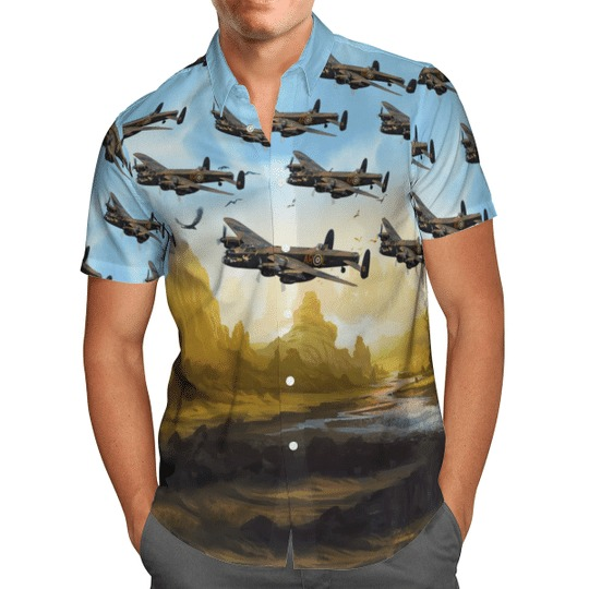 Avro lancaster bomber hawaiian shirt 1
