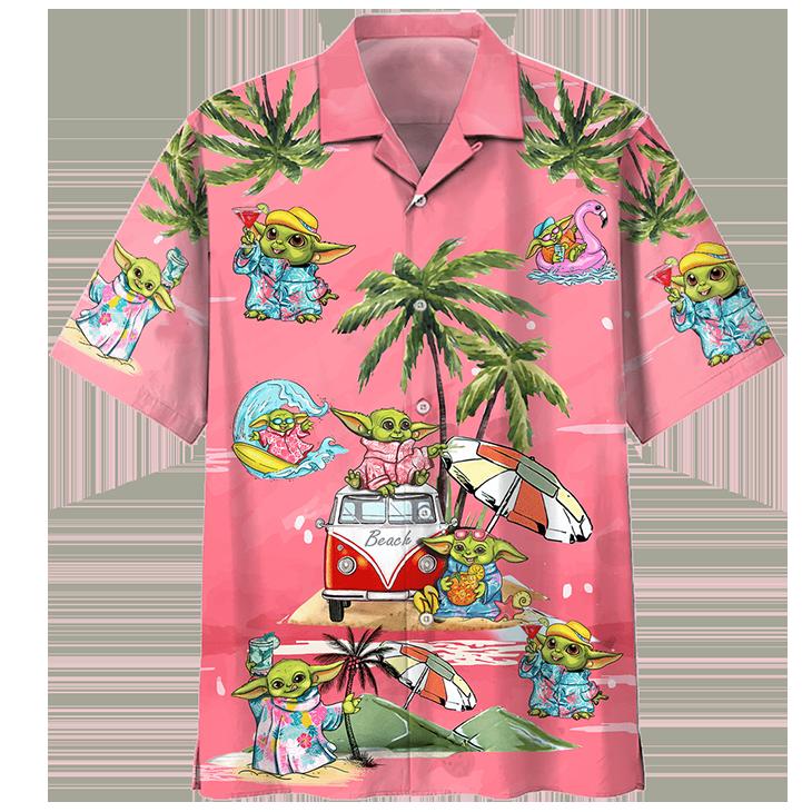 Baby Yoda Summer Time Hawaiian Shirt