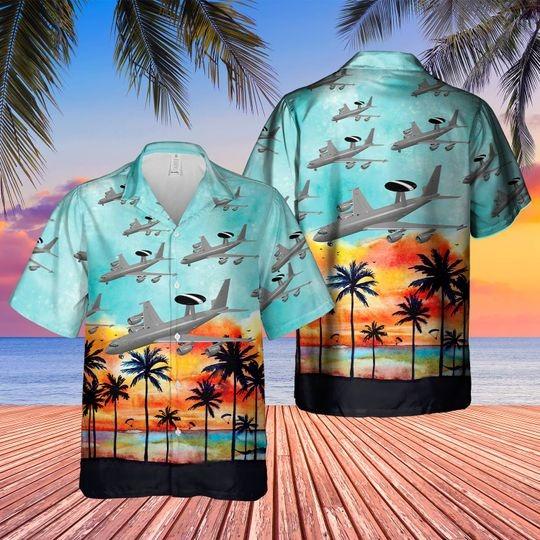 Boeing 3 3d sentry aew1 hawaiian shirt 1