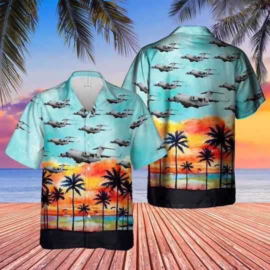 Boeing c 17 globemaster III uk c 17 hawaiian shirt 1