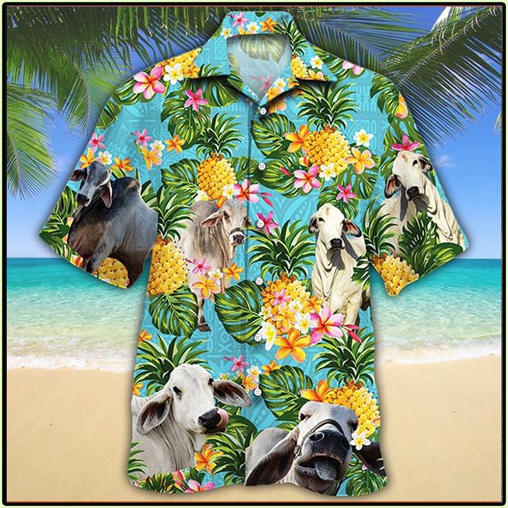 Brahman Cattle Lovers Hawaiian Shirt3