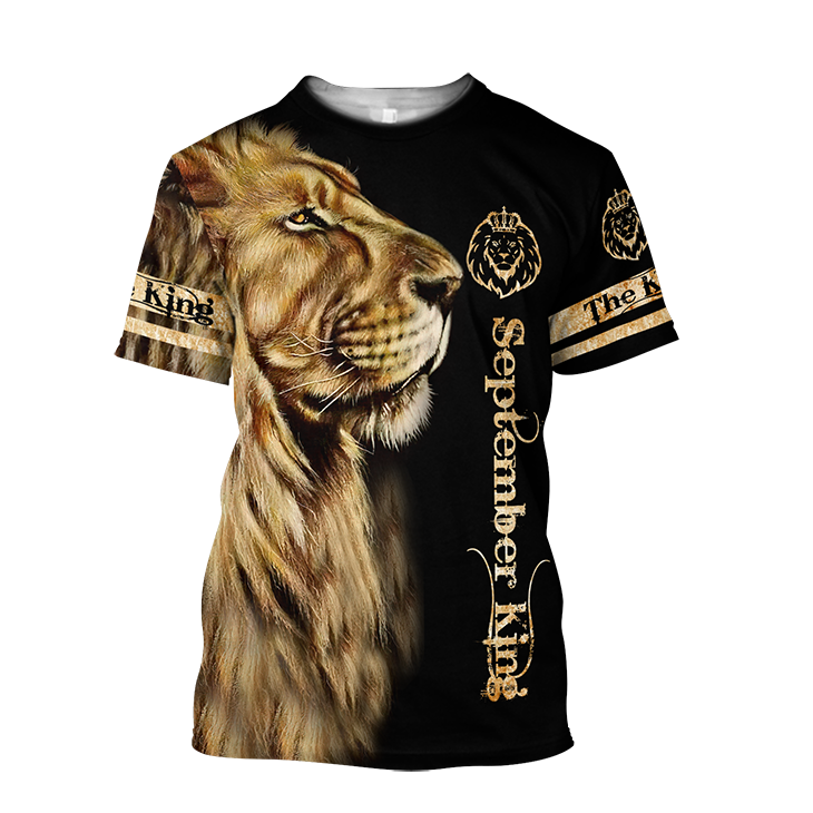 Lion September King 3D T Shirt And Hoodie2