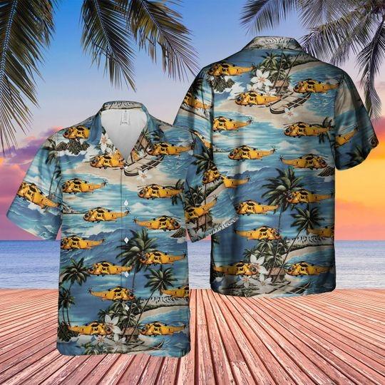 Westland sea king hawaiian shirt 1
