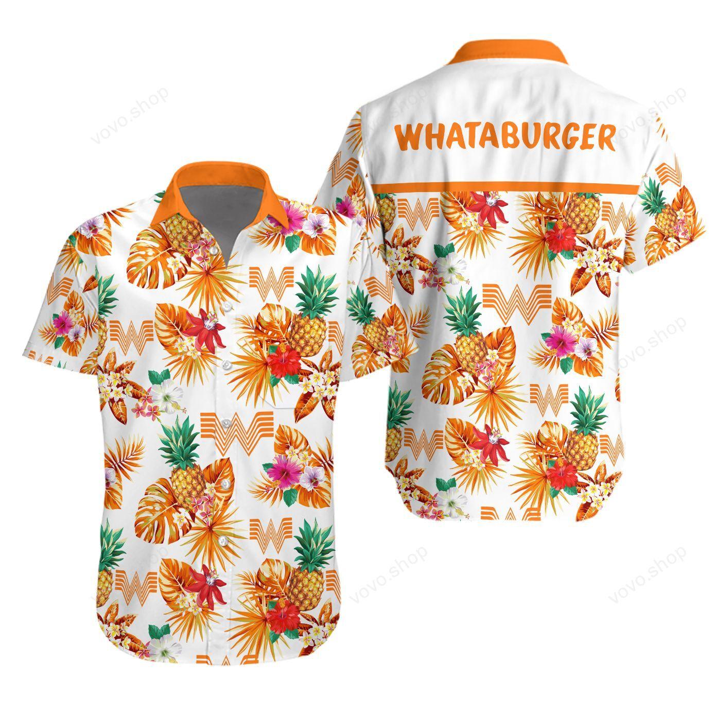 Whataburger Hawaiian shirt and short