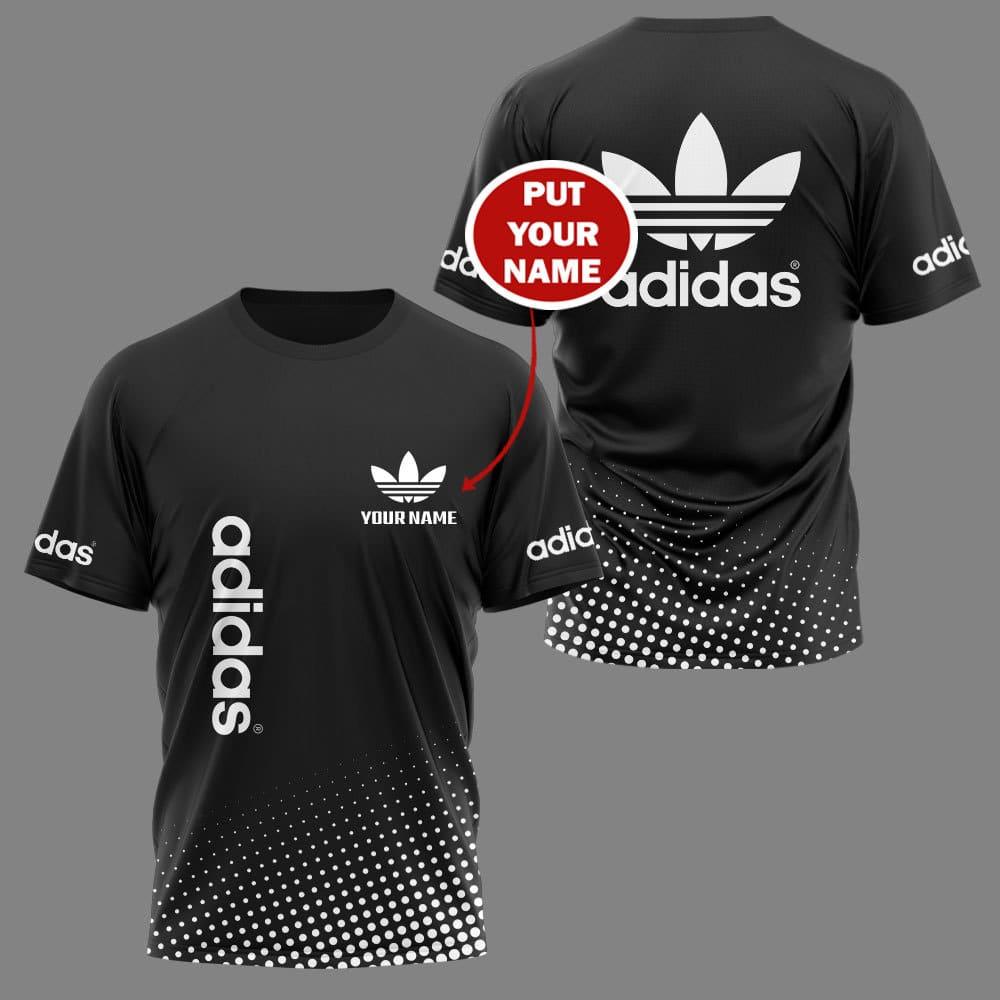 Adidas custom name 3d hoodie and shirt 1