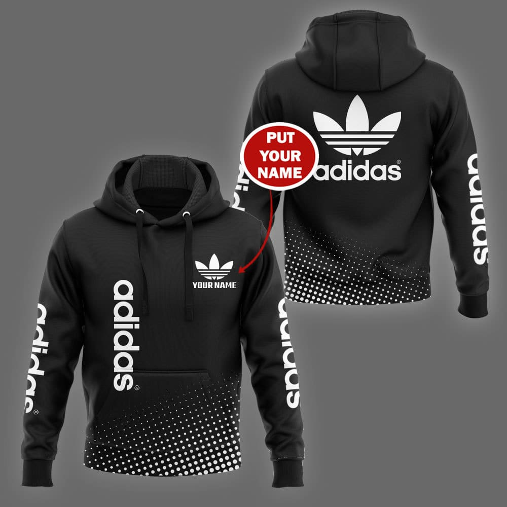 Adidas custom name 3d hoodie and shirt 2