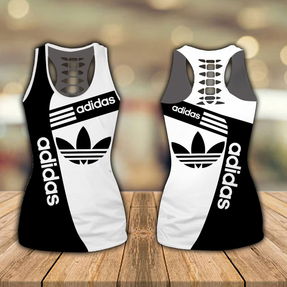 Adidas hollow tank top and legging 1