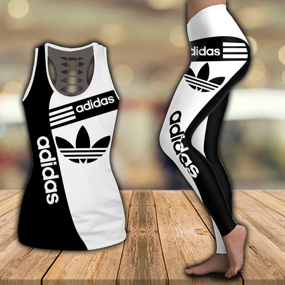 Adidas hollow tank top and legging