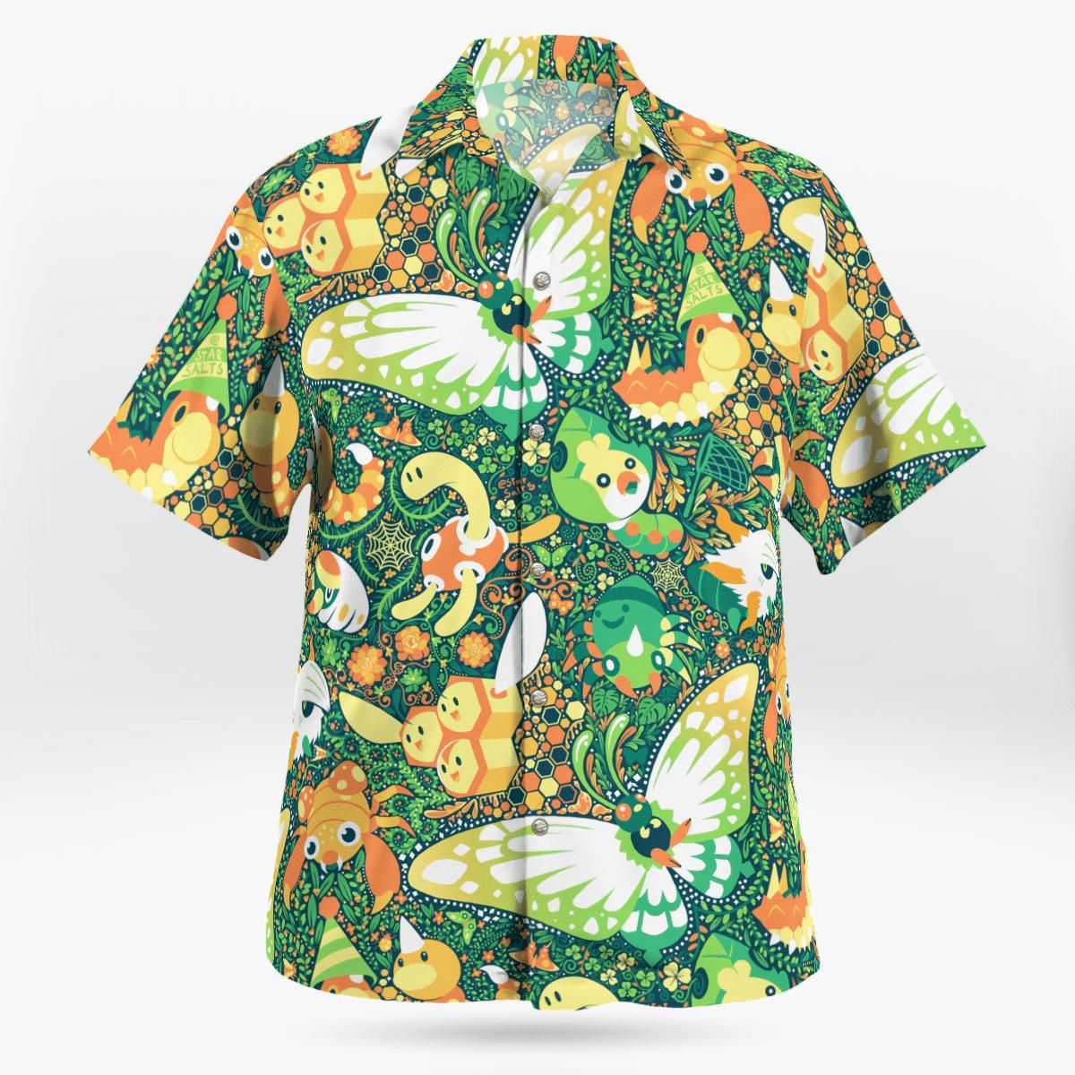 BUG Pokemon Hawaiian shirt 1