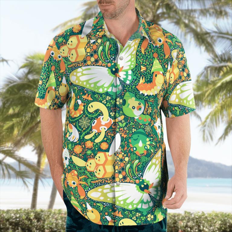 BUG Pokemon Hawaiian shirt 2