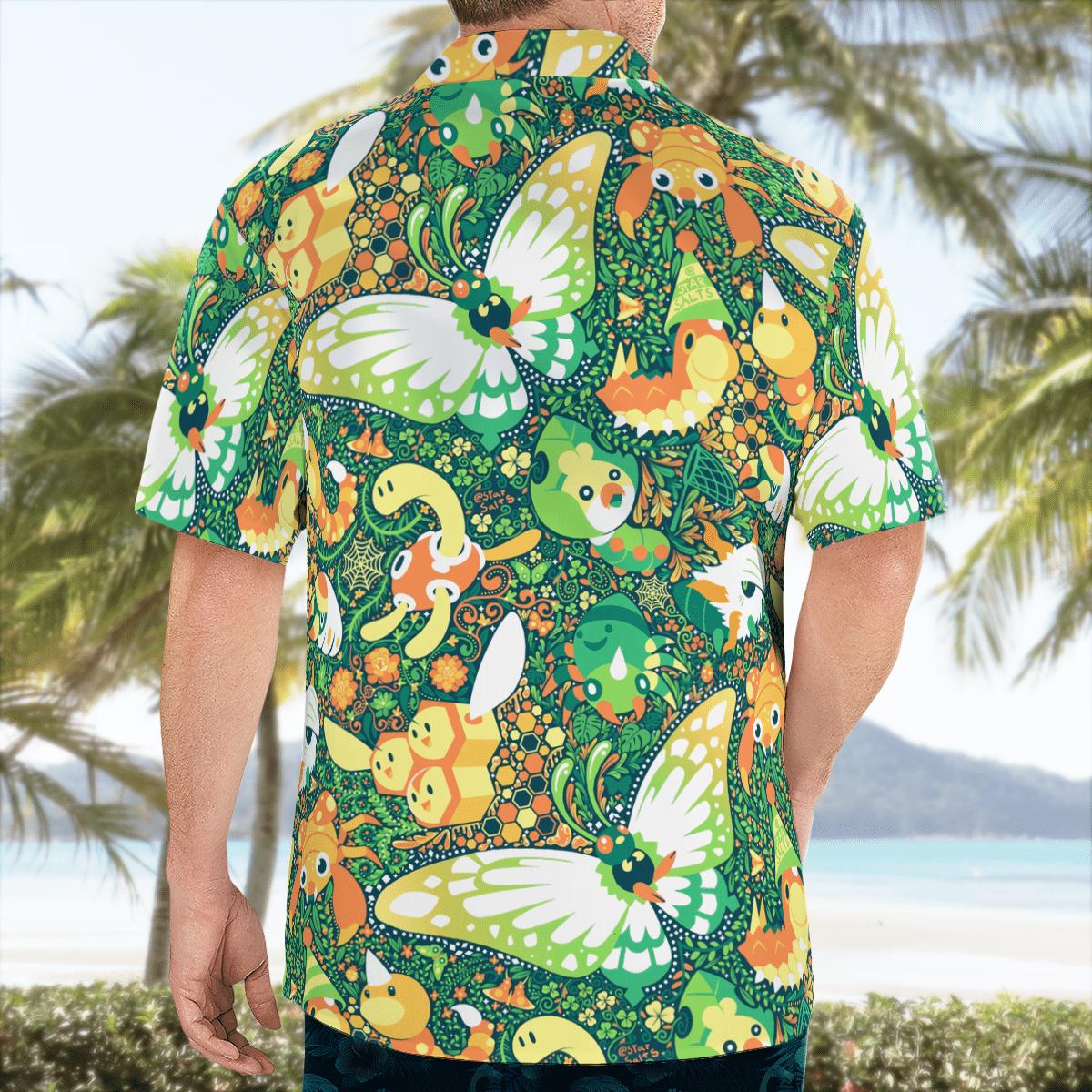 BUG Pokemon Hawaiian shirt 3