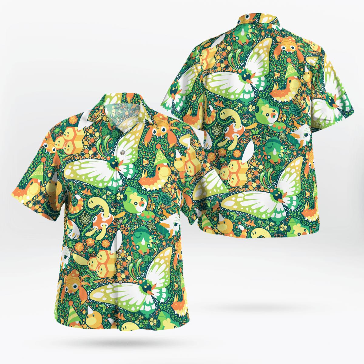 BUG Pokemon Hawaiian shirt
