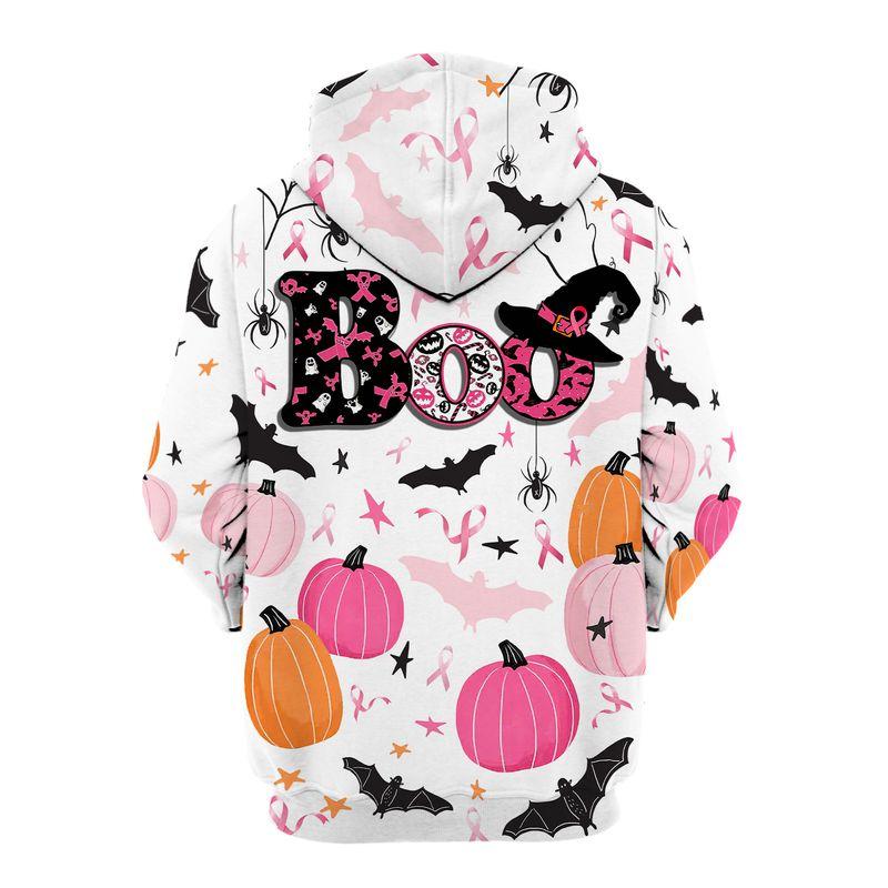 Breast Cancer Awareness Boos pumpkins Halloween 3d hoodie shirt 6