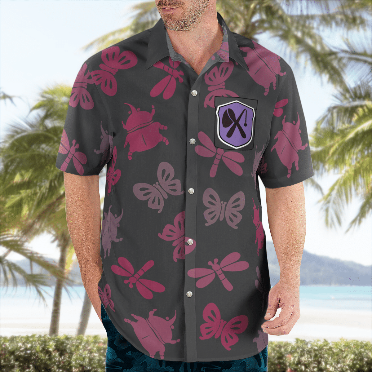 Bug off Aloha Hawaiian shirt and short 1