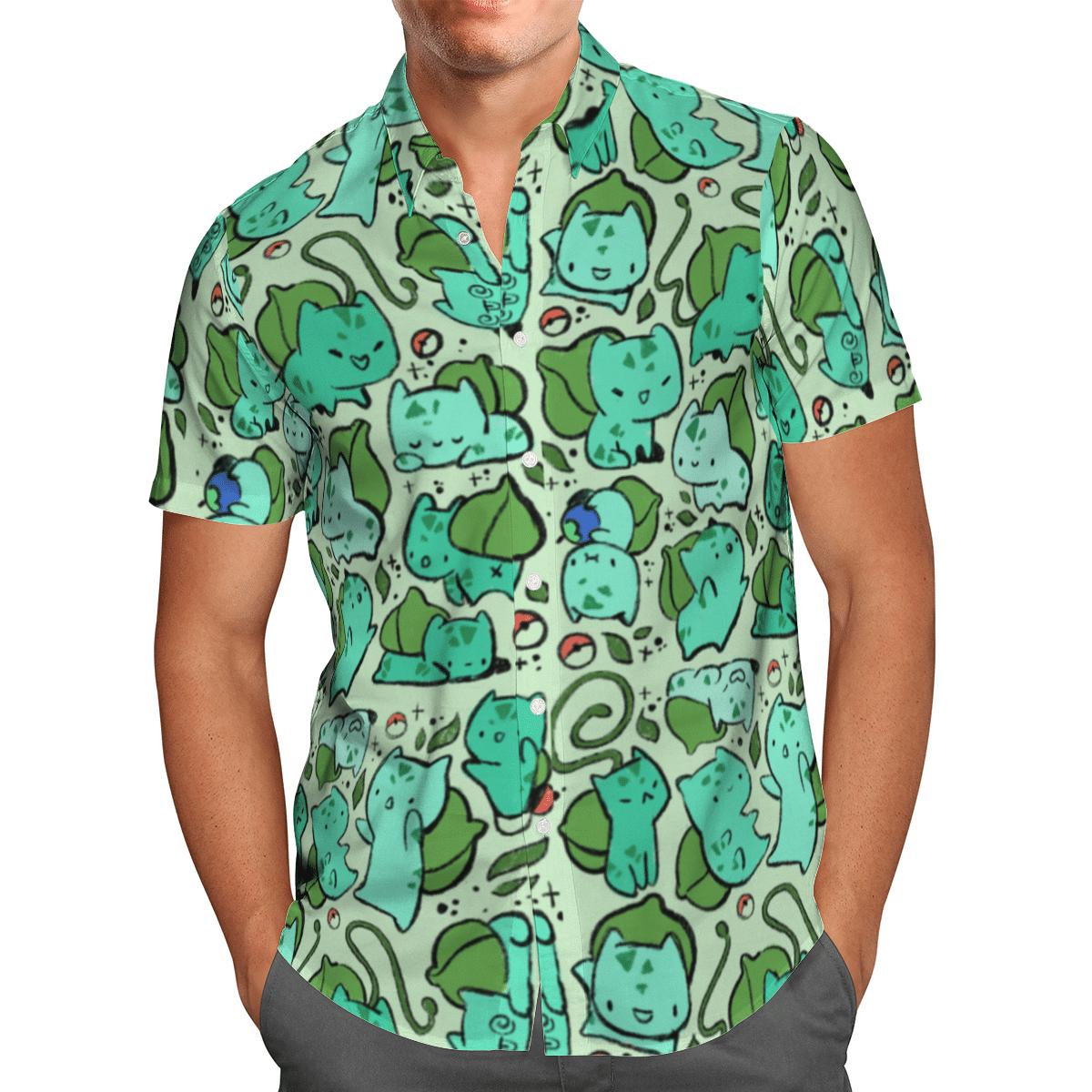 Bulbasaur hawaiian shirt and short 1