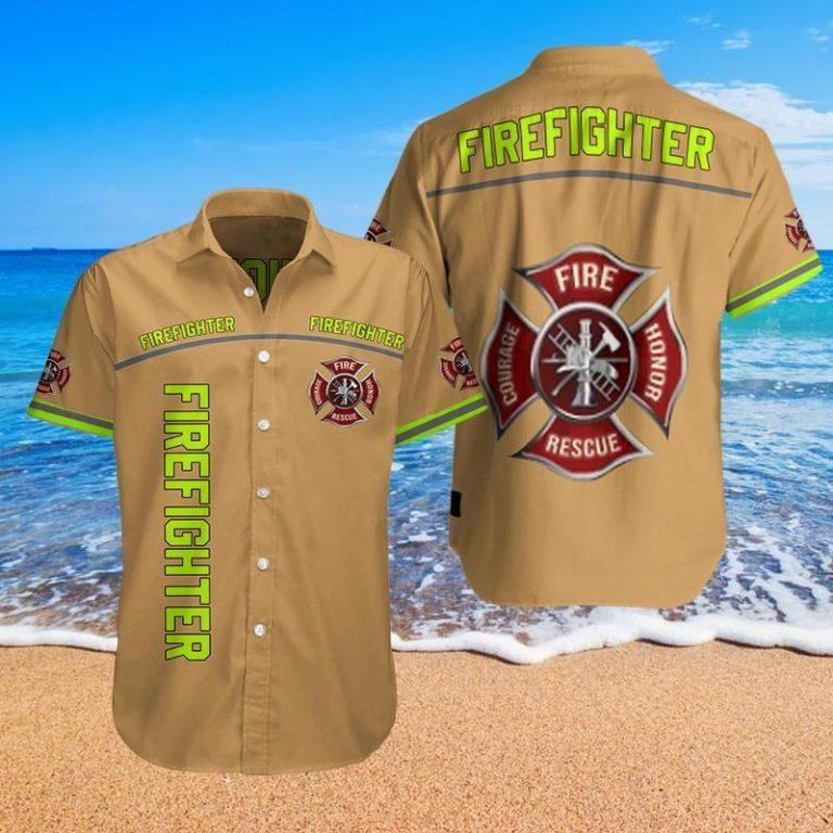 Firefighter stop staring at my fire hose Hawaiian shirt short 3