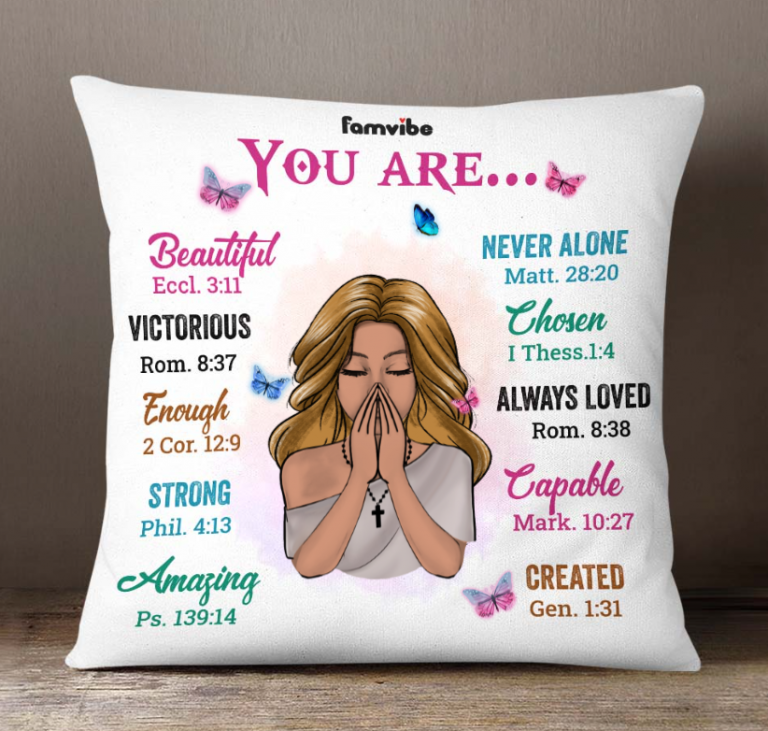 Girl you are beautiful never alone victorious chosen pillow 1