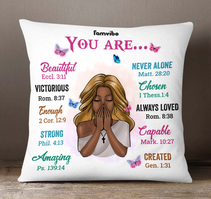 Girl you are beautiful never alone victorious chosen pillow 2