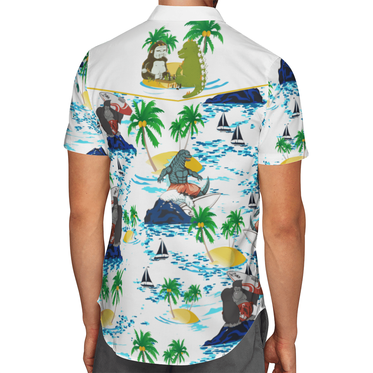Godzilla vs Kong Hawaiian shirt 1