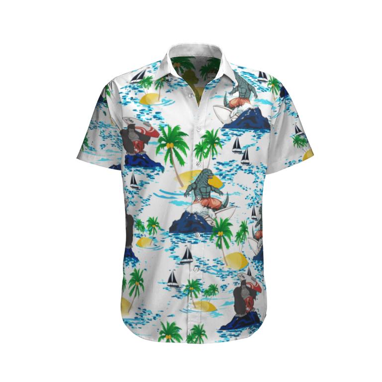 Godzilla vs Kong Hawaiian shirt 2