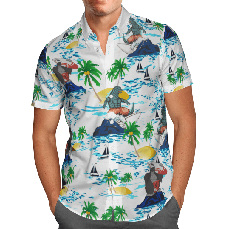 Godzilla vs Kong Hawaiian shirt