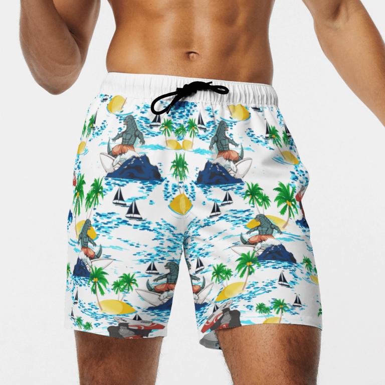 Godzilla vs Kong Hawaiian shirt and short