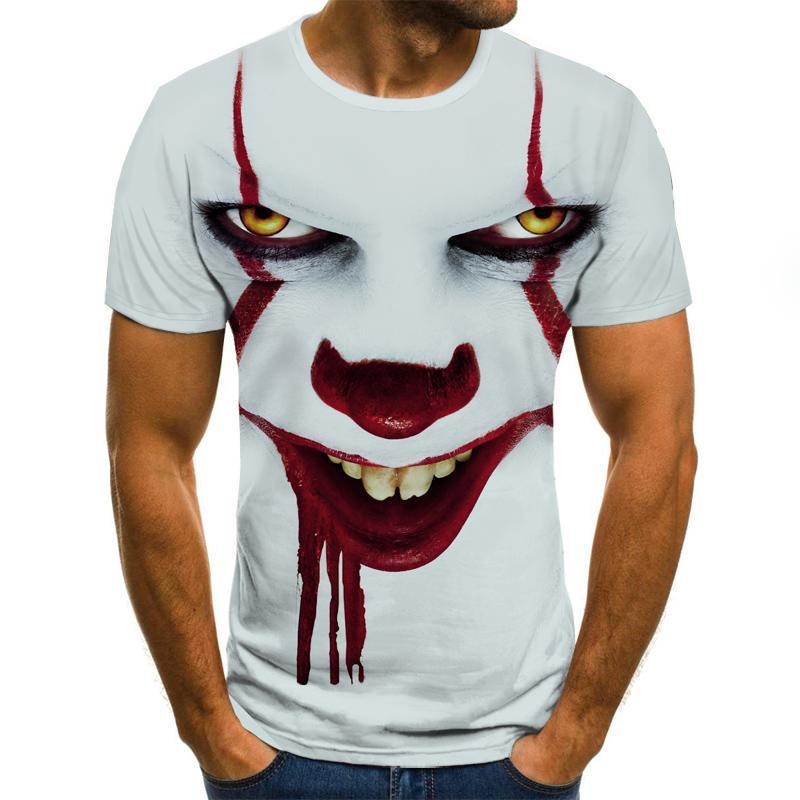 IT pennywise Clown 3d illustration t shirt 1