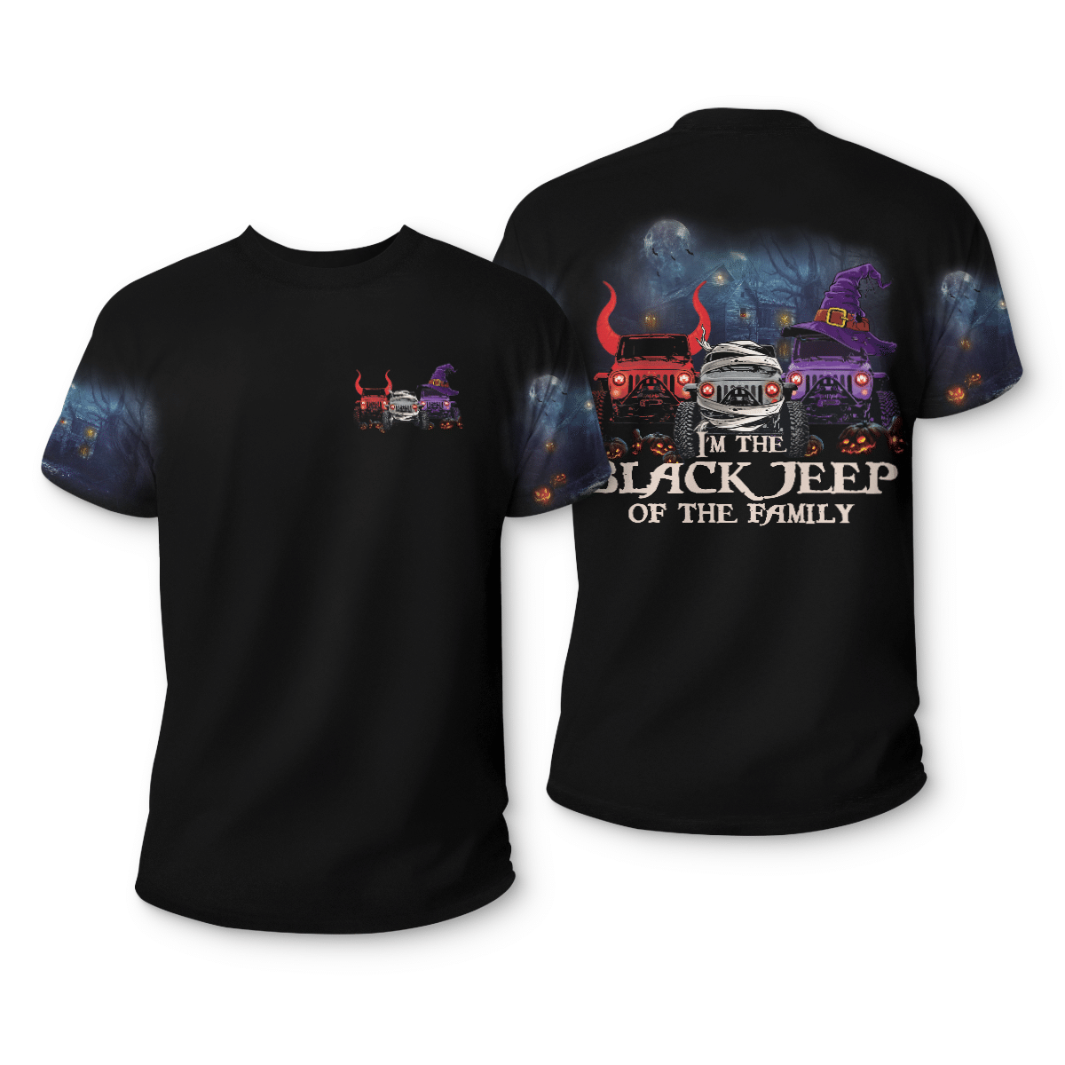 Im a black jeep of the family 3d T shirt 1