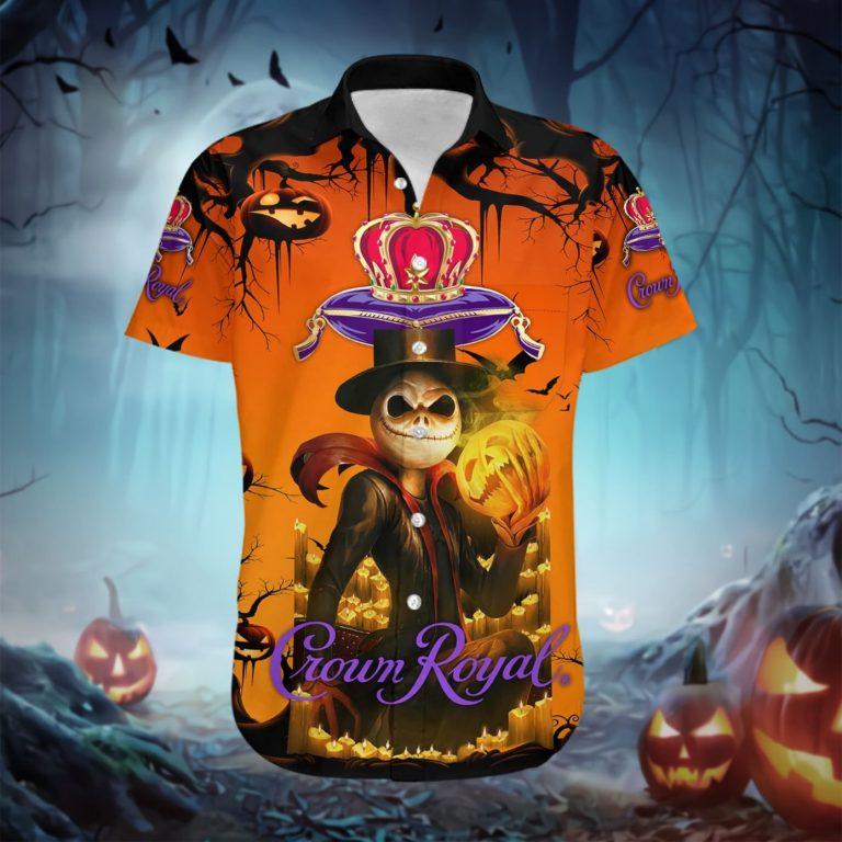 Jack Skellington Skull Crown Royal Hawaiian shirt 1