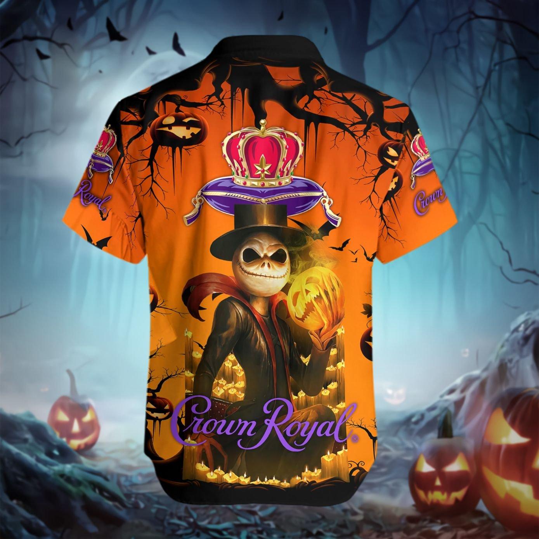 Jack Skellington Skull Crown Royal Hawaiian shirt 2