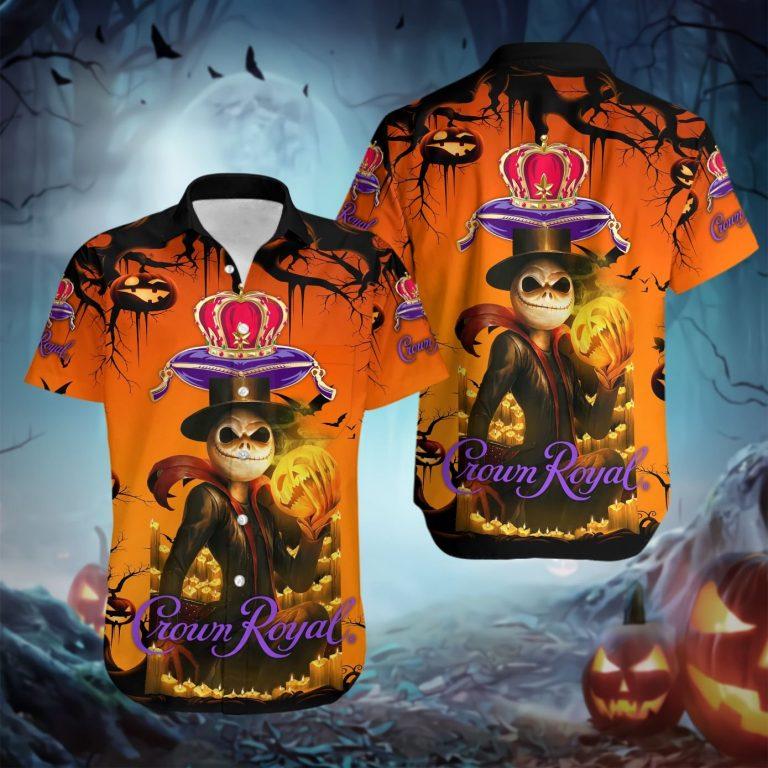 Jack Skellington Skull Crown Royal Hawaiian shirt