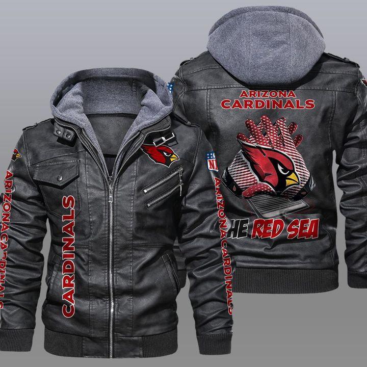 NFL Arizona Cardinals leather jacket 1