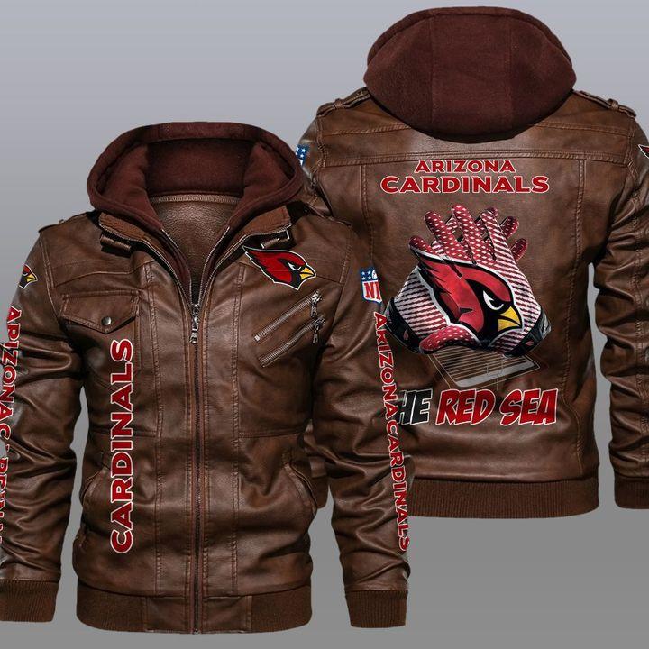 NFL Arizona Cardinals leather jacket 2