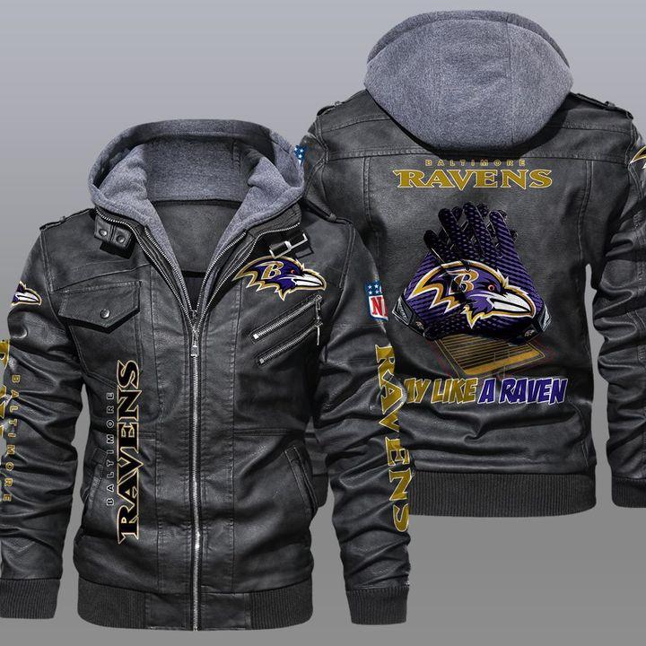 NFL Baltimore Ravens leather jacket 1