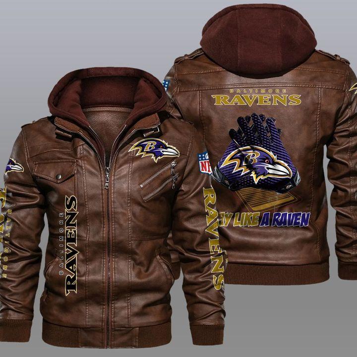 NFL Baltimore Ravens leather jacket 2
