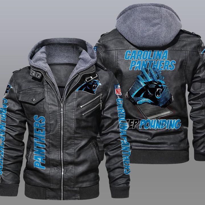 NFL Carolina Panthers leather jacket 1